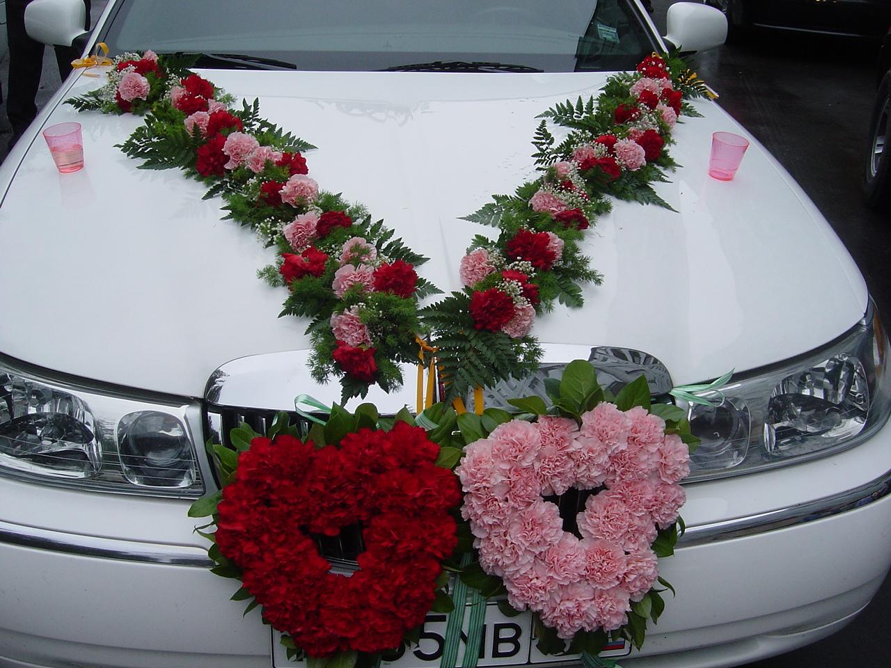 Фото свадебные машины из живых цветов