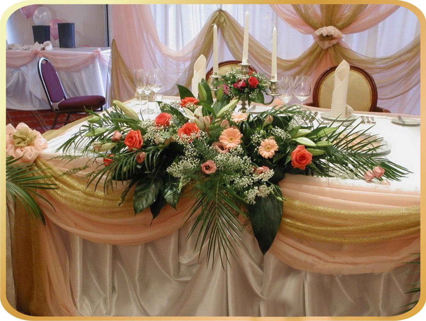 Украшение из цветов на юбилей фото