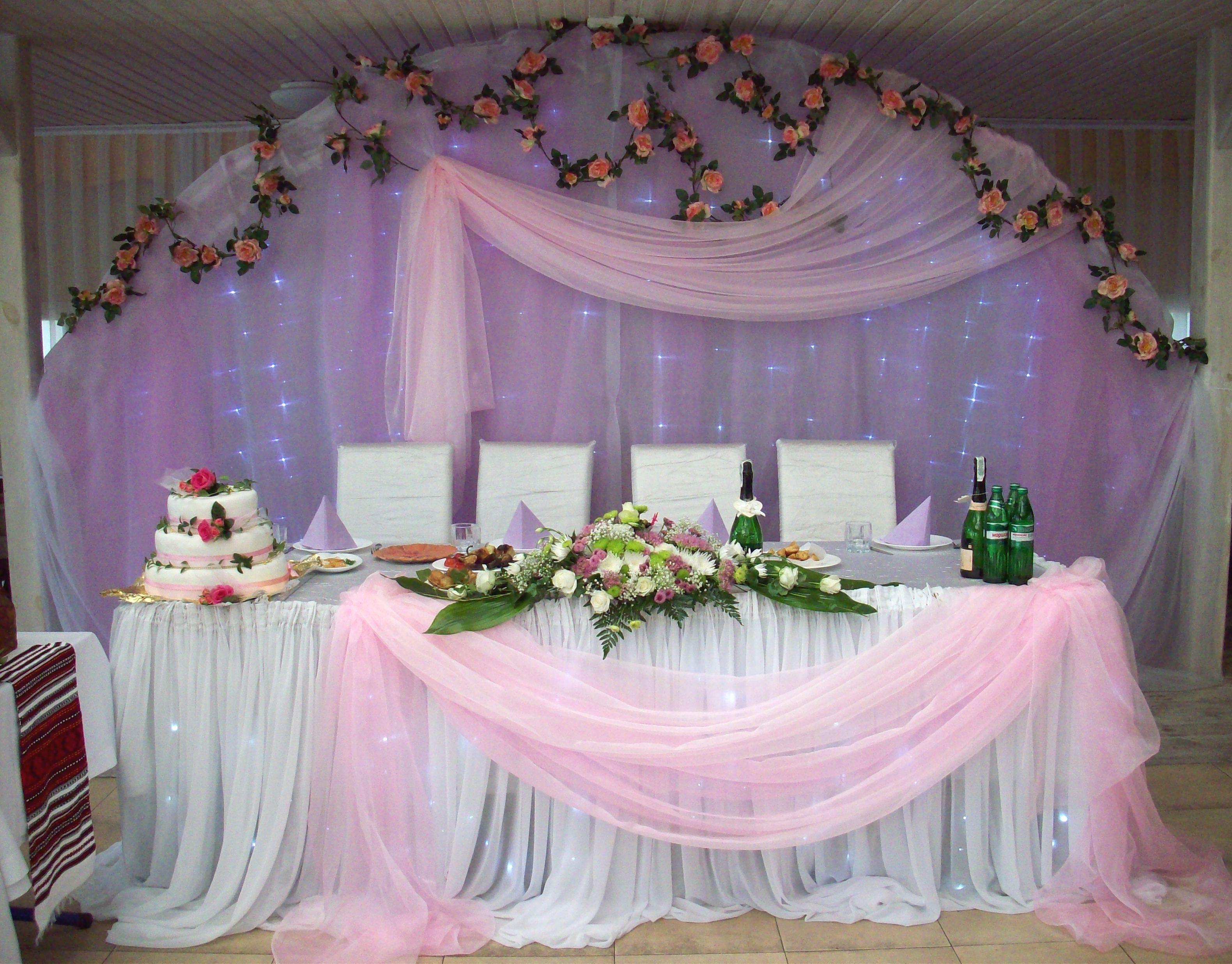 Как своими руками украсить зал для свадьбы фото