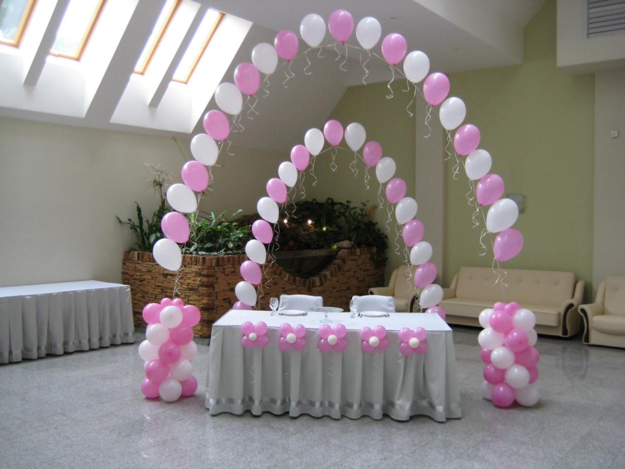 Как украсить свадебный зал шарами своими руками